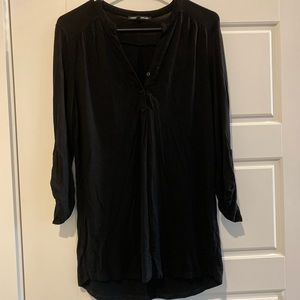 Cable + Gauge || black 3/4 sleeve tunic